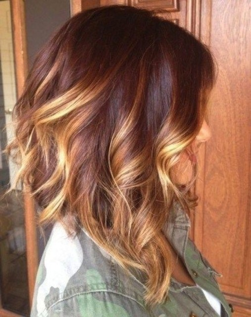 1429775573 brown hair with blond highlights ombre hair medium length hairstyles 2015