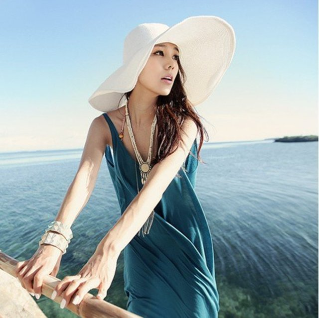 1430277967 2011 new summer sun hat ladies rimmed hat straw hat fashion sunbonnet anti ultraviolet topee uv