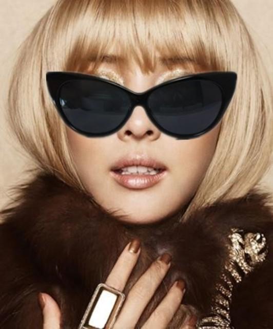 1431088071 free shipping 3pcs lot elvis women s big box vintage sunglasses cat eye style sunglasses female