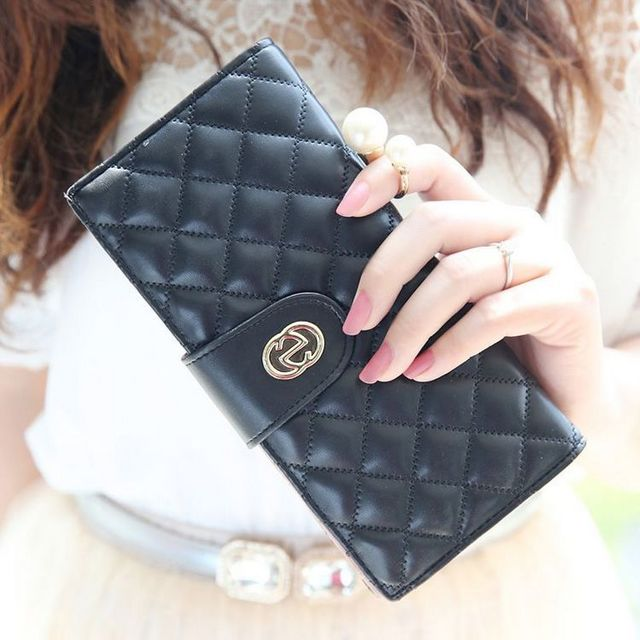 1431253473 new fashion women s synthetic pu leather coin case money clip clutch evening hand bag wallet
