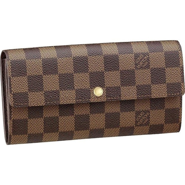 1431267699 louis vuitton damier ebene canvas sarah wallet brown women wallets and coin purses