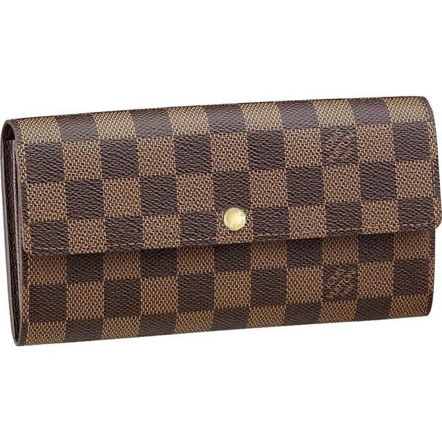 1431267699 louis vuitton damier ebene canvas sarah wallet brown women wallets and coin purses
