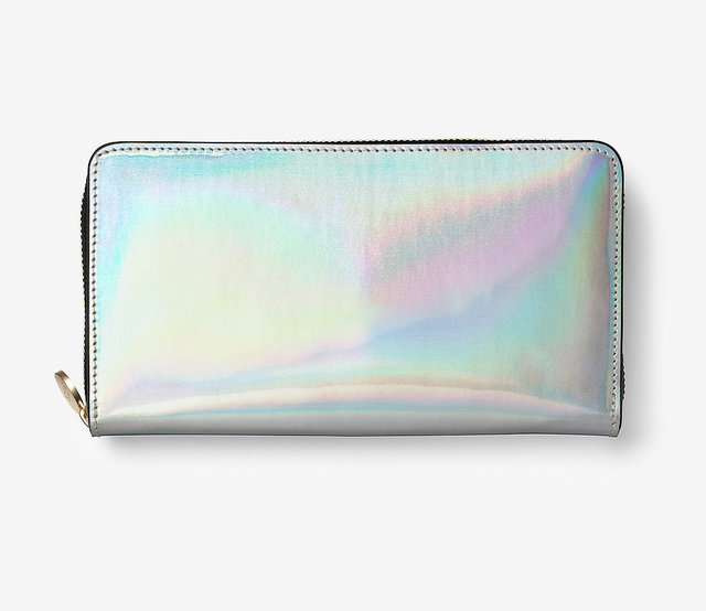 1431268198 kate spade saturday holographic silver wallet