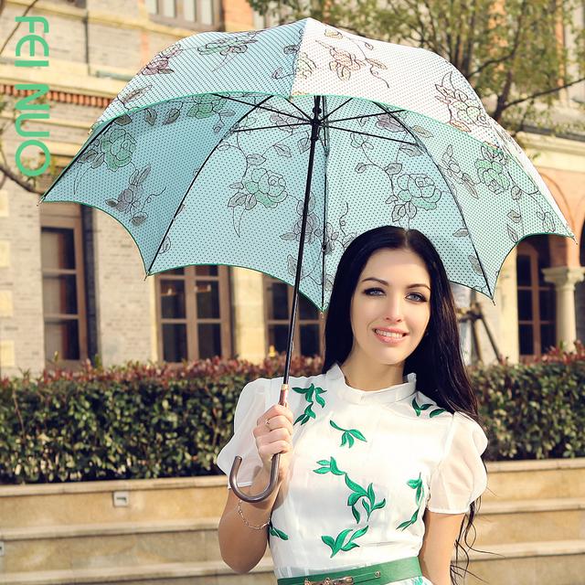 1431498609 long handled font b umbrella b font noble and elegant princess font b umbrella b font