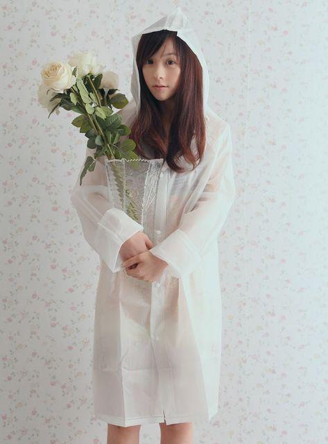1431514563 free shipping eva adult raincoat fashion outdorr poncho transparent white font b plus b font font
