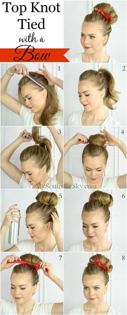 1431582980 ribbone top knot how to