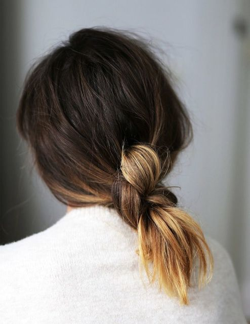 1432095423 knotted midlength hair ponytail