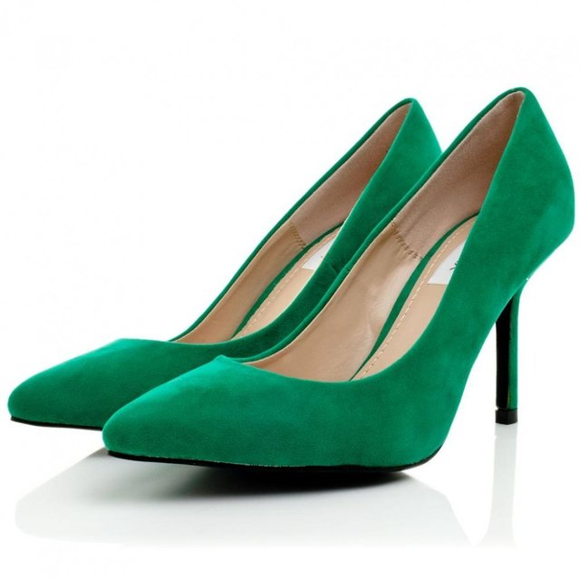 1433603621 cristina stiletto heel court shoes green suede style p1854 7380 zoom