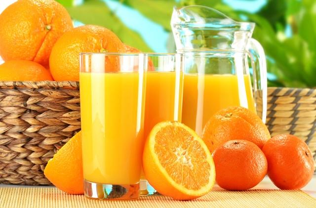 1433616688 juice orange juice fruit oranges tangerines basket glass jug