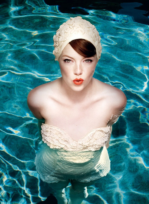 1433741000 beach pool board pinterest emma stone retro swimsuit photo
