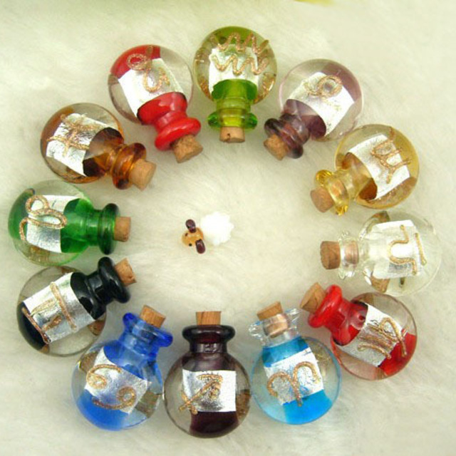 1431078815 33x25mm murano glass essential oil vials zodiac