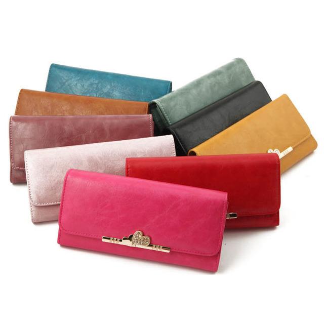 1431247605 2014 women brand wallets famous designer pu leather purses multi colors women wallets free shipping
