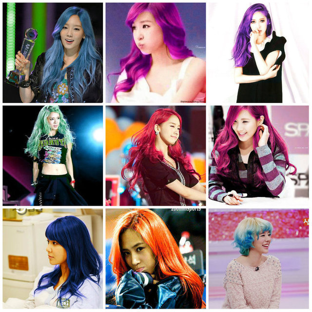 1432007073 snsd in different hair colors  i dont think so  by yin ah d5zvtgb