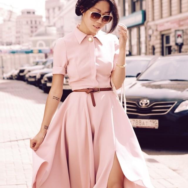 1433516112 girly shirt dress in pink